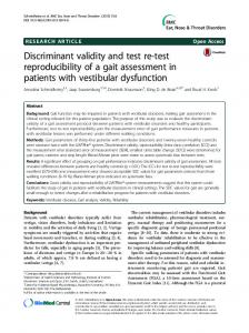 Discriminant validity and test re-test reproducibility