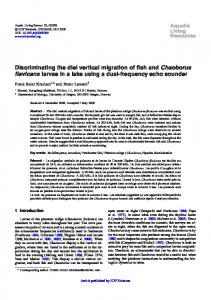 Discriminating the diel vertical migration of fish and ...