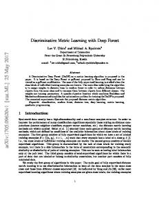 Discriminative Metric Learning with Deep Forest