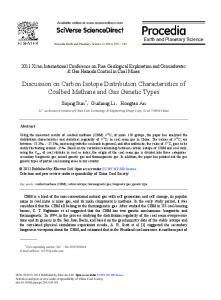 Discussion on Carbon Isotope Distribution ... - Science Direct