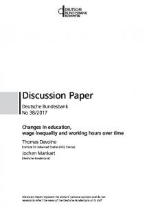 Discussion Paper - Editorial Express