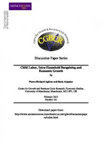 Discussion Paper Series - Cathie Marsh Institute for Social Research