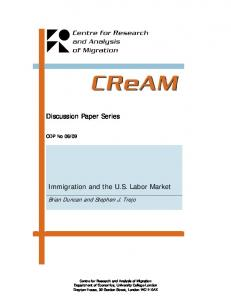 Discussion Paper Series Immigration and the US Labor Market - Core