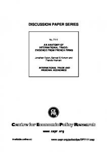discussion paper series - IZA - Institute of Labor Economics