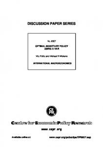 discussion paper series - MNB
