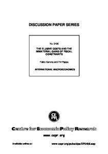 discussion paper series - papers in the SSRN