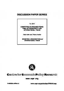 discussion paper series - (SSRN) Papers