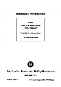 discussion paper series - SSRN papers
