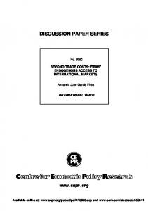 discussion paper series - SSRN