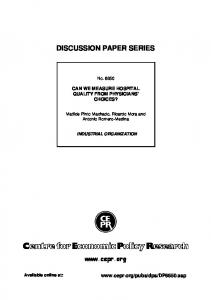 discussion paper series - UC3M