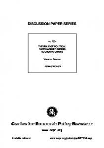 discussion paper series - USI