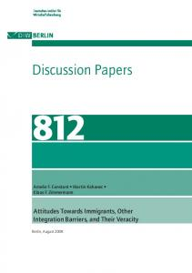 Discussion Papers - DIW Berlin