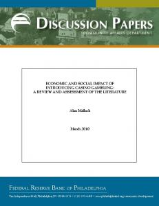 Discussion PaPers - Federal Reserve Bank of Philadelphia