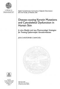 Disease-causing Keratin Mutations and Cytoskeletal Dysfunction in ...