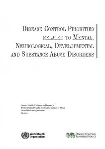 Disease control priorities related to mental, neurological - Service ...