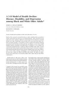 Disease, Disability, and Depression among Black and White Older ...