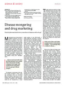 Disease mongering and drug marketing - Wiley Online Library