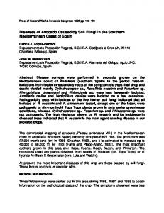 Diseases of Avocado Caused by Soil Fungi in the Southern ...