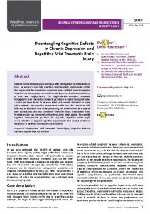 Disentangling Cognitive Defects in Chronic