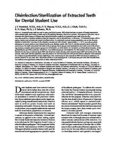 Disinfection/Sterilization of Extracted Teeth for Dental ... - CiteSeerX