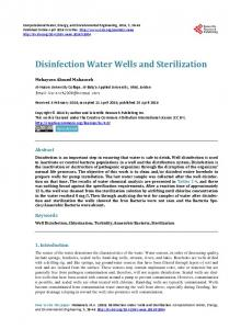 Disinfection Water Wells and Sterilization - Scientific Research ...