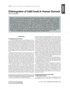 Disintegration of Solid Foods in Human Stomach