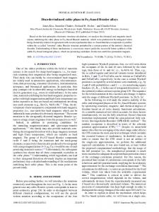 Disorder-induced cubic phase in Fe2-based ... - APS Link Manager