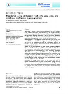 Disordered eating attitudes in relation to body image and emotional ...