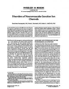 Disorders of Neuromuscular Junction Ion Channels