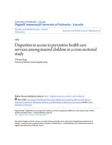 Disparities in access to preventive health care services among insured ...
