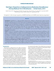 Disparities in Antihypertensive Medication Nonadherence ... - CDC