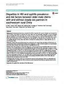Disparities in HIV and syphilis prevalence and risk ... - Semantic Scholar