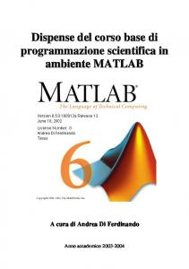 Dispensa Matlab