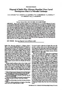 Dispersal of Stable Flies (Diptera: Muscidae) From ... - PubAg - USDA