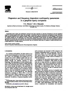 Dispersion and frequency dependent nonlinearity
