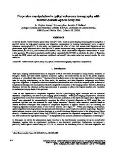 Dispersion manipulation in optical coherence