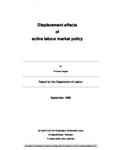 Displacement effects of active labour market policy - CiteSeerX