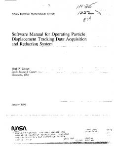 Displacement Tracking Data Acquisition and ... - NTRS - NASA