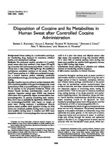 Disposition of Cocaine and Its Metabolites in ... | Semantic Scholar