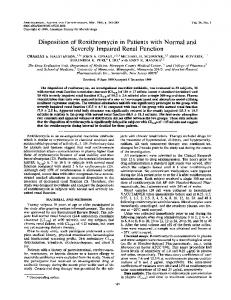 Disposition of Roxithromycin in Patients with Normal and Severely ...
