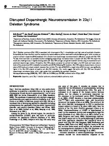 Disrupted Dopaminergic Neurotransmission in 22q11 ... - Nature
