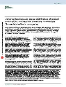 Disrupted function and axonal distribution of mutant