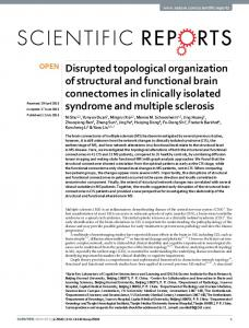 Disrupted topological organization of structural and functional brain