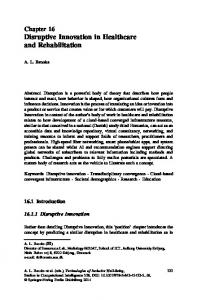 Disruptive Innovation in Healthcare and Rehabilitation - Springer