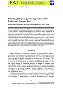 Dissecting Policy Designs: An Application of the ... - CU Denver