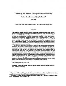 Dissecting the Market Pricing of Return Volatility - CiteSeerX