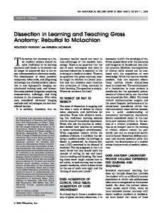 Dissection in learning and teaching gross ... - Wiley Online Library