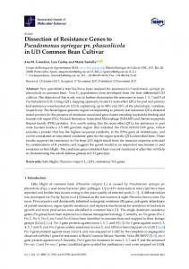 Dissection of Resistance Genes to Pseudomonas ... - CSIC Digital