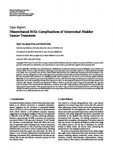 Disseminated BCG: Complications of Intravesical Bladder Cancer ...