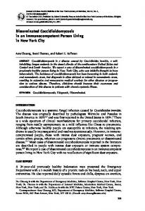 Disseminated coccidioidomycosis in an immunocompetent ... - NCBI